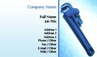 Plumbers Pipe Wrench Business Card Template
